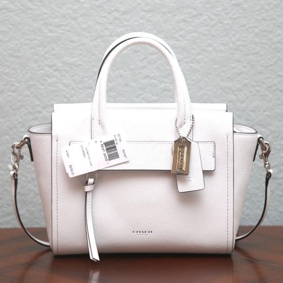 b67ae51dd4 Coach Handbags - White Coach Bleecker Mini Riley Carryall Authentic